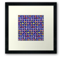 Checkered Nautical Signal Flags  Framed Print