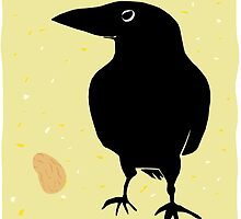 Crow with Peanut by Wendy Wahman