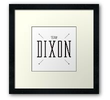 Team Dixon - Alternate Framed Print