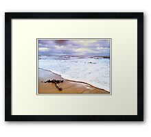 Sea and sand Framed Print