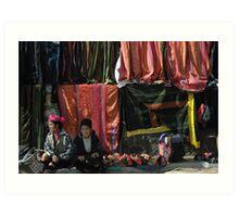 The Colors of Two Women's Lives (Sapa, Vietnam) Art Print