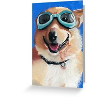 Corgi in Goggles Greeting Card