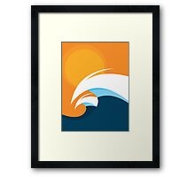 Morning Peaks | Wave Art Framed Print