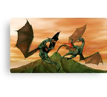 Fighting Dragons Canvas Print