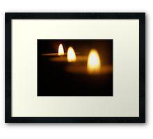 light flame Framed Print