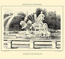 """""""'Fuente De Cibeles', Madrid, Spain"""" - Yellowed by trebory6"""