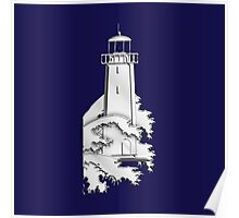 Nautical Chrome Mighty Lighthouse Poster