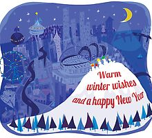 Seattle Holiday Card by Wendy Wahman