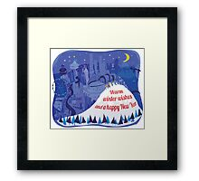 Seattle Holiday Card Framed Print