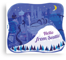 Hello from Seattle! by Wendy Wahman Canvas Print