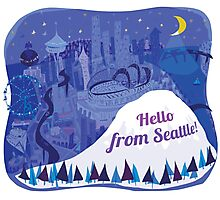 Hello from Seattle! by Wendy Wahman Photographic Print