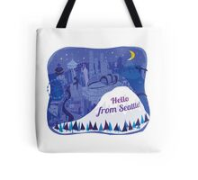 Hello from Seattle! by Wendy Wahman Tote Bag