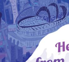 Hello from Seattle! by Wendy Wahman Sticker
