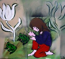 Molly and Her Frogs by rachelann
