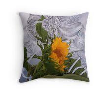 A Sunflower Named Storm Throw Pillow