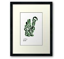 Toxic One Line Pig Shepard (alone) Framed Print