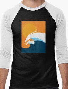 Morning Peaks   Wave Art Men's Baseball ¾ T-Shirt
