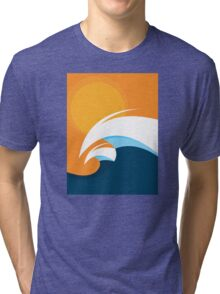 Morning Peaks | Wave Art Tri-blend T-Shirt