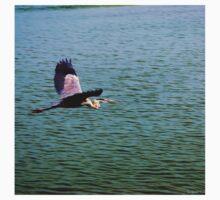 Heron in Flight Kids Tee