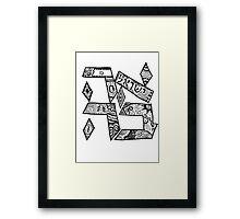 """""""Ahavah"""" - Hebrew Zentangle Framed Print"""