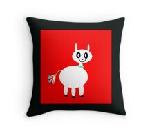 MY PET, White and red Throw Pillow