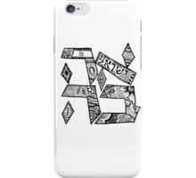 """""""Ahavah"""" - Hebrew Zentangle iPhone Case/Skin"""