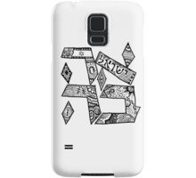 """Ahavah"" - Hebrew Zentangle Samsung Galaxy Case/Skin"