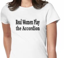 Accordion Womens Fitted T-Shirt