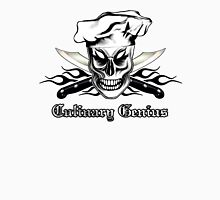 Chef Skull 4: Culinary Genius 3 black flames Unisex T-Shirt