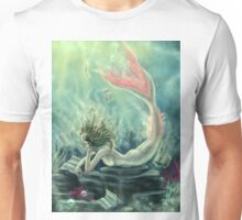 Mermaid Reading Underwater Unisex T-Shirt