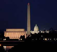 Night Falls on the Capital by WALLPhotoGrafx