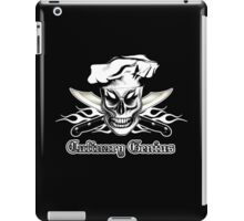 Chef Skull 4: Culinary Genius 3 white flames iPad Case/Skin