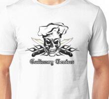 Chef Skull 3: Culinary Genius 3 black flames Unisex T-Shirt