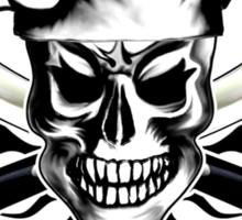 Chef Skull 3: Culinary Genius 3 black flames Sticker