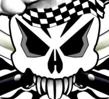 Chef Skull 2.3: Culinary Genius 3 black flames Sticker