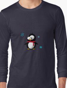 Holiday penguin Long Sleeve T-Shirt