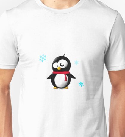 Holiday penguin Unisex T-Shirt