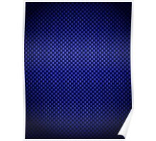 Blue Carbon Fibre iPhone / Samsung Galaxy Case Poster