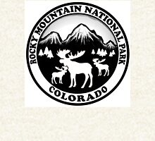 Rocky Mountain National Park Colorado moose design Zipped Hoodie