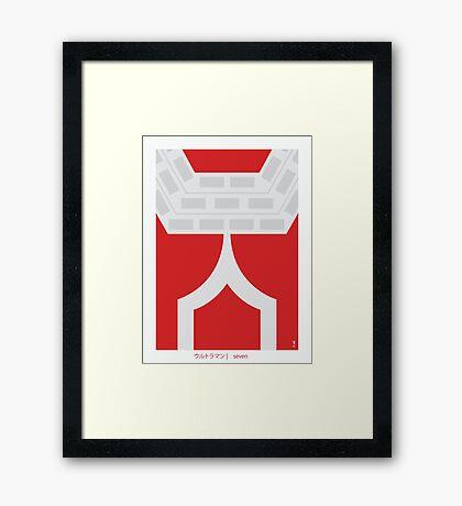 Ultraman Seven Framed Print