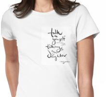 + Self-talk via Amy Poehler Womens Fitted T-Shirt