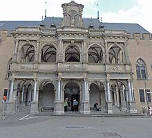 14th Century Loggia, Town Hall, Cologne, Germany by Margaret  Hyde