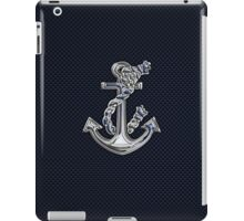 Chrome Style Nautical Rope Anchor Applique iPad Case/Skin