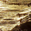 Surfing Gold by Mark Claridge