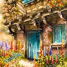 Hollyhock Cottage by Rasendyll