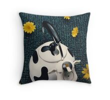 Cow On Astro Turf Throw Pillow