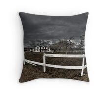 Ranch Motel Throw Pillow