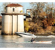 under power on the Sacramento River Photographic Print
