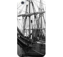 Old Sailing Ship BW iPhone Case/Skin