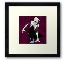 watercolor spider gwen Framed Print